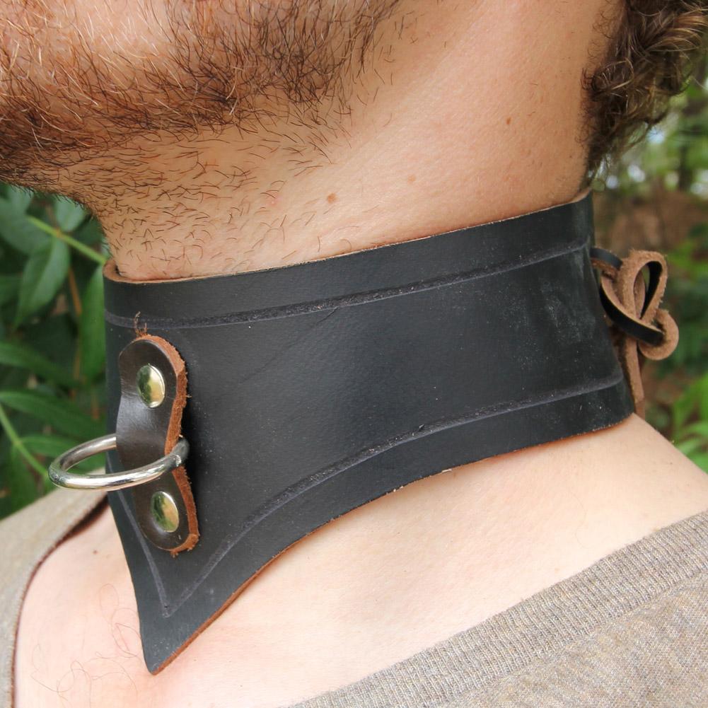 Genuine Infinity LEATHER Slave Collar