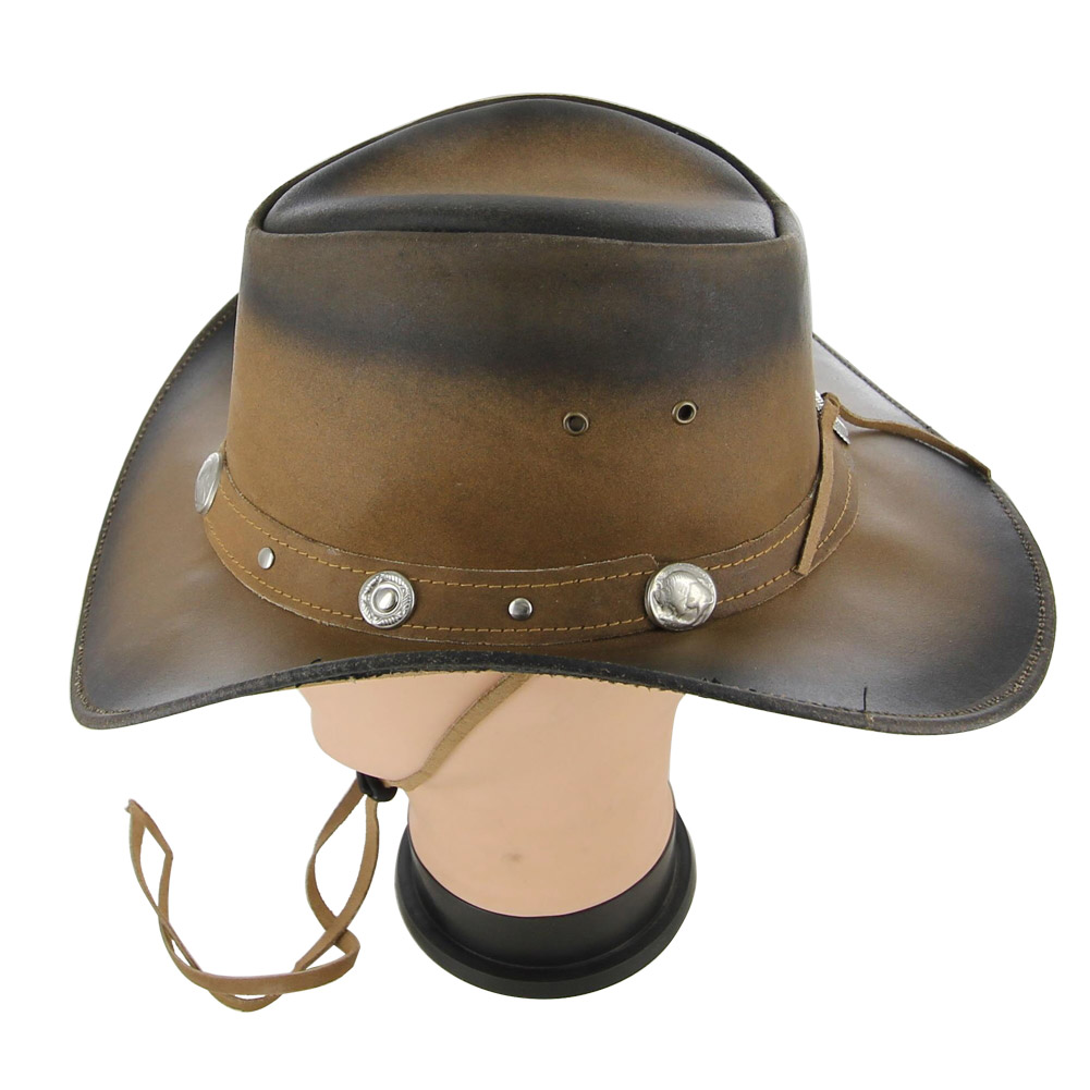 DRESS to Kill Leather Buffalo Nickel Hat