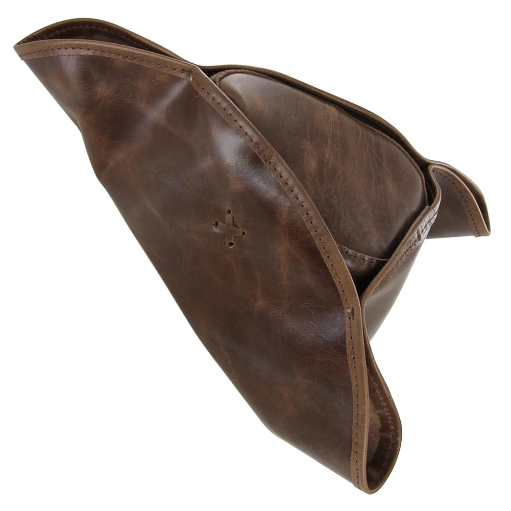 Colonial Leather Pirate Tricorn